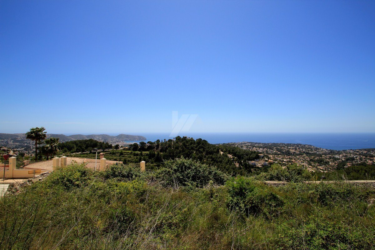 Terrain panoramique vue mer à vendre à Teulada-Moraira, Costa Blanca.
