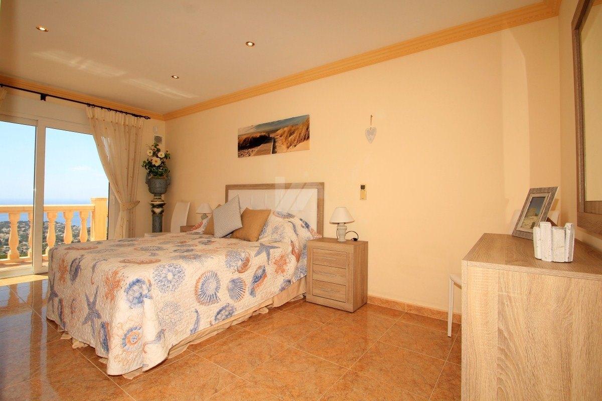 Villa vue mer panoramique à vendre à Teulda-Moraira, Costa Blanca.