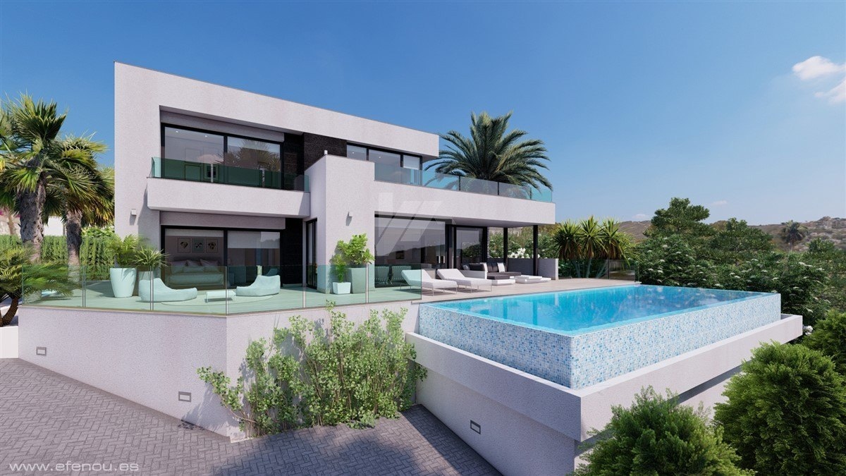 Nouvelle villa de construction à vendre à Moraira, Costa Blanca.