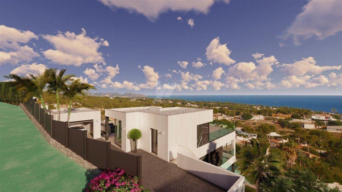 Villa vue sur la mer à vendre à Calpe, Costa Blanca.