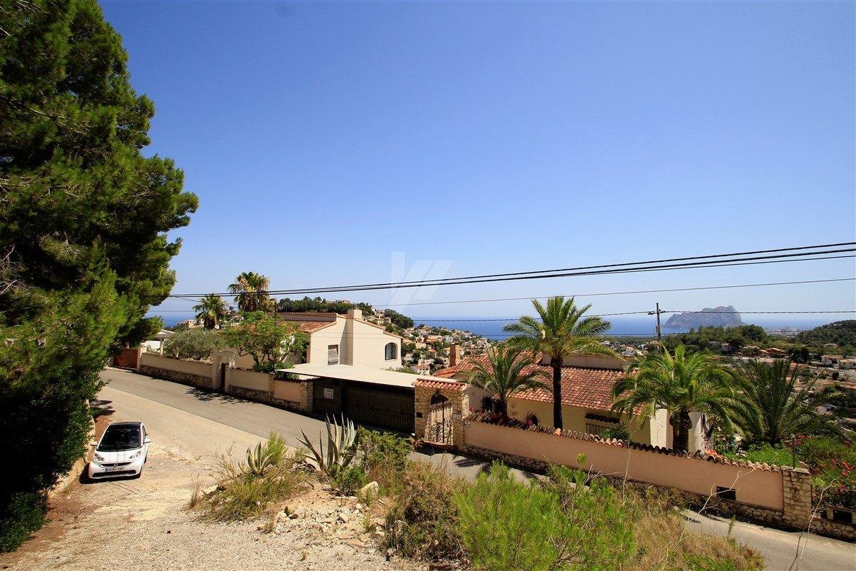 Terrain de vue sur la mer à vendre à Benissa, Costa Blanca.