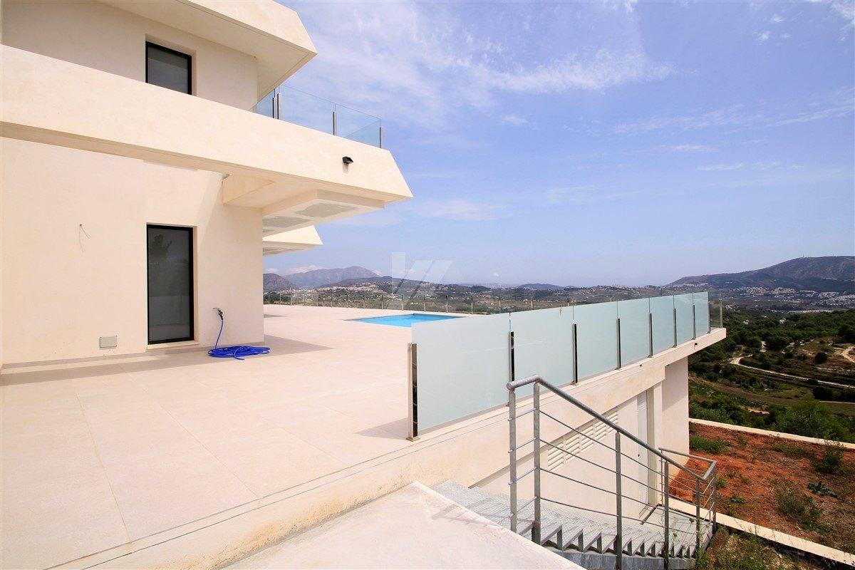 Vue sur la mer nouvelle construction à vendre à Moraira, Costa Blanca.