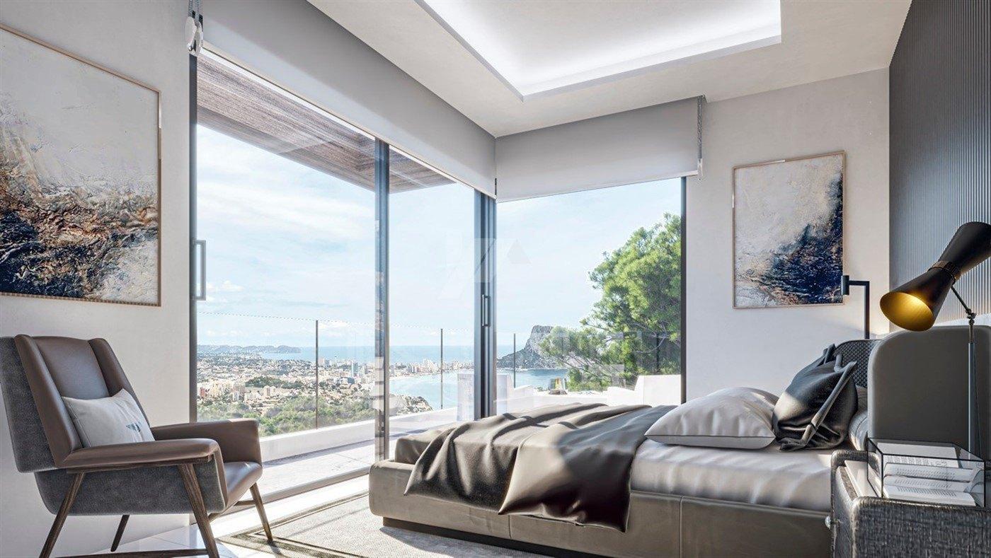 Villa de vue sur la mer de luxe à vendre à Calpe, Costa Blanca.